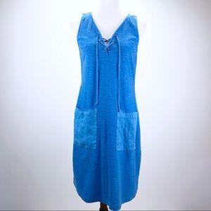 Tommy Bahama Blue Cotton Dress Size Small